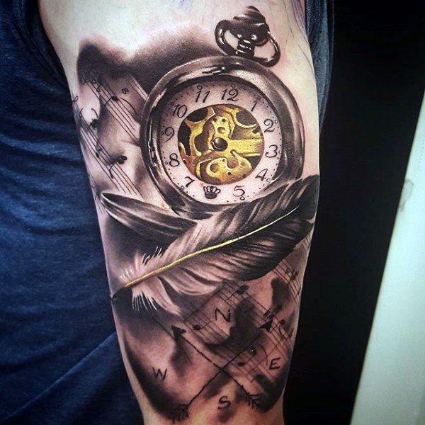 200 popular pocket watch tattoo and meanings 2017 collection pocket watch tattoos watch. Black Bedroom Furniture Sets. Home Design Ideas