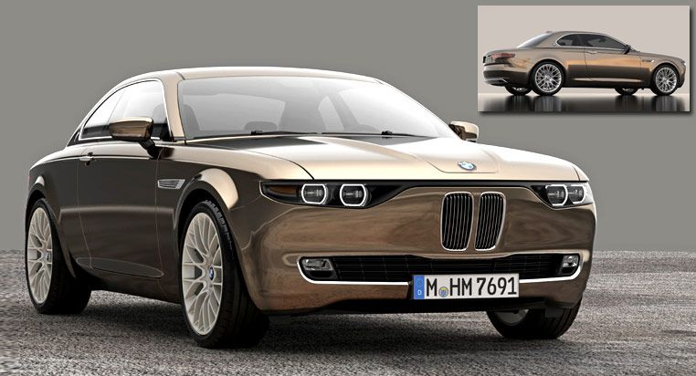 Stunning Bmw Cs Vintage Concept Tribute Shows Old 1960s Design Still Works Today Carscoops Concept Cars Vintage Vintage Concepts Bmw E9