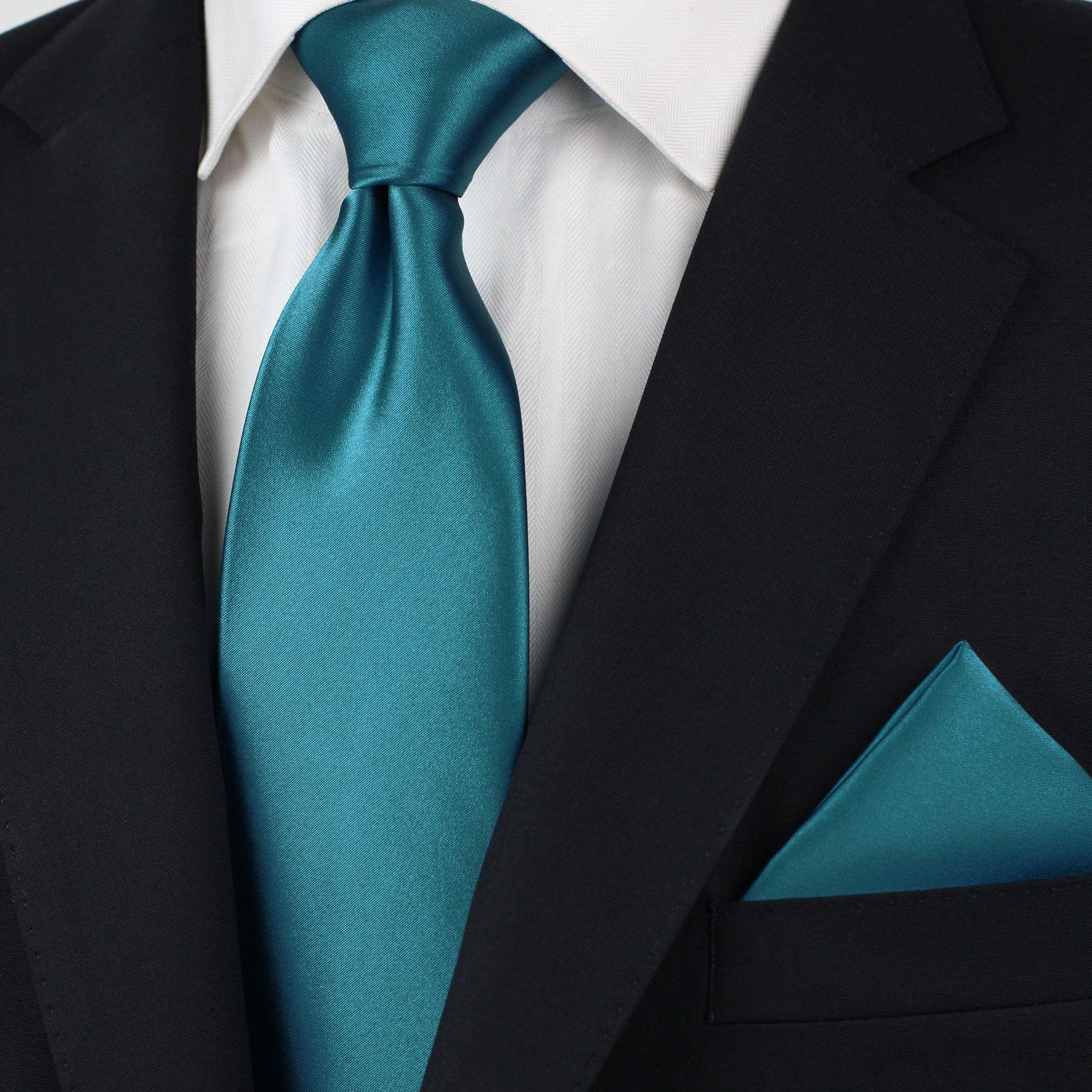 Cravate - Fleurs Ton Sur Ton, Brodé En Cran Bleu Clair