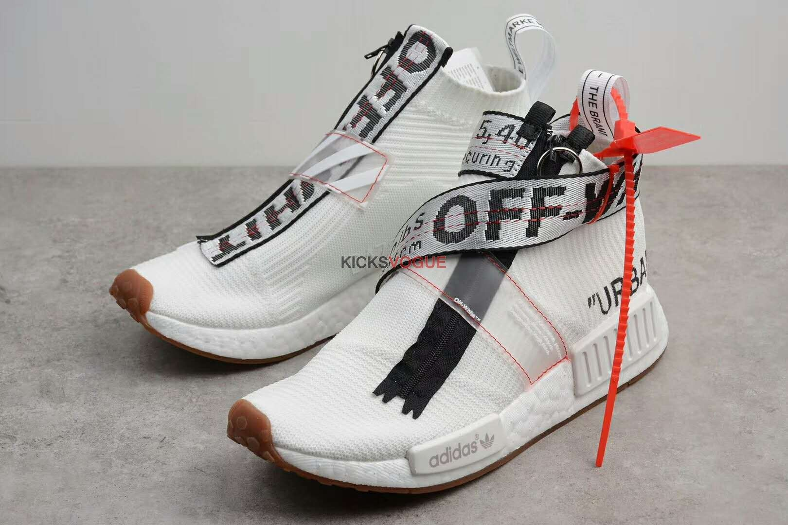 competitive price 90889 427dc Virgil Abloh OFF-WHITE Custom adidas Originals NMD City Sock ...