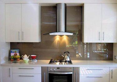 glass kitchen backsplash lowes light fixtures panel backsplashes back painted splash kitchann style