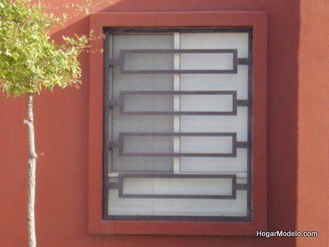 Estilo moderno de reja de ventana decoraci n pinterest for Puertas estilo moderno