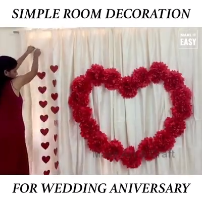 Anniversary Decoration Ideas At Home Video Wedding Anniversary Surprises Anniversary Decorations 25th Anniversary Decorations