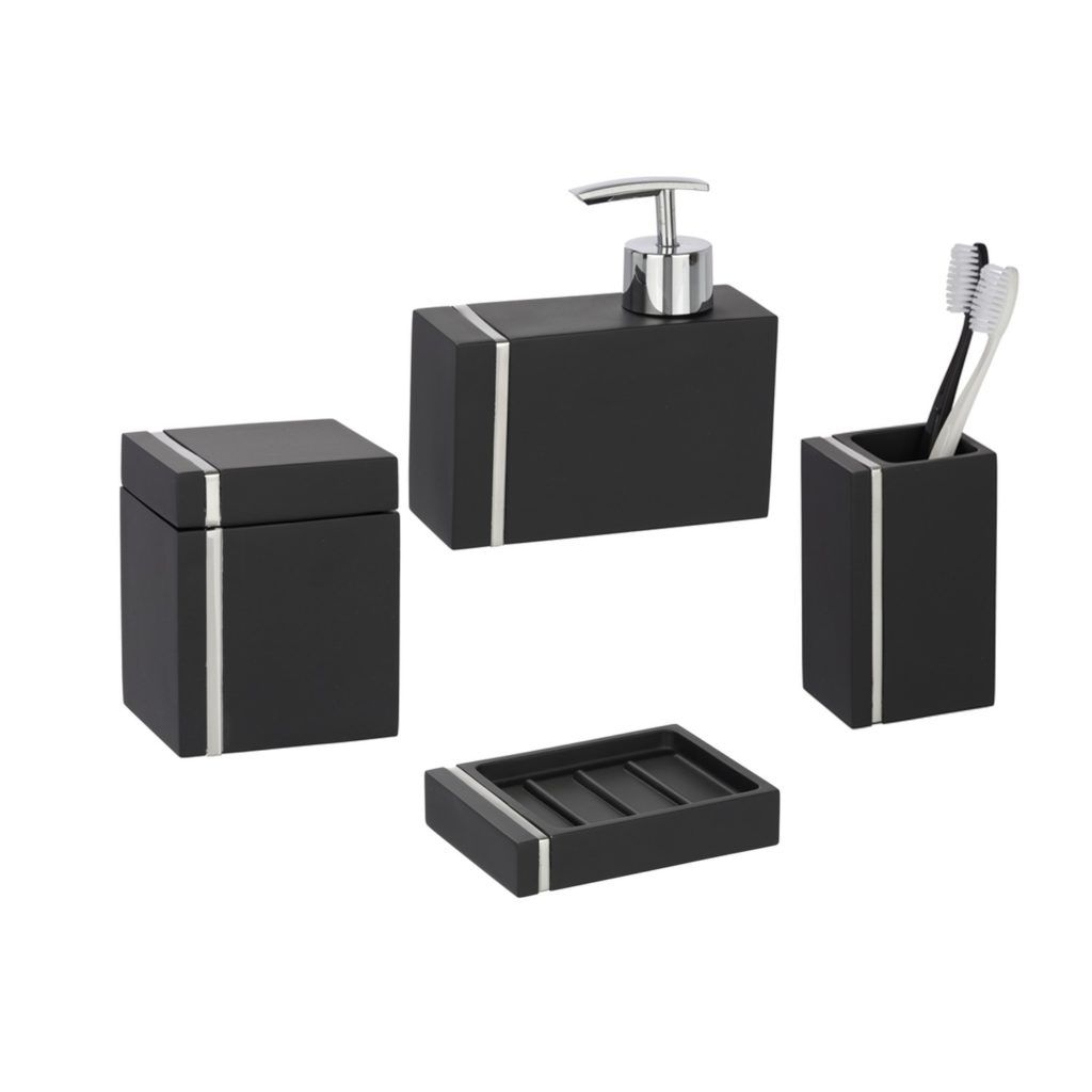 Wenko Black Bathroom Accessories | Bathroom Accessories | Pinterest ...