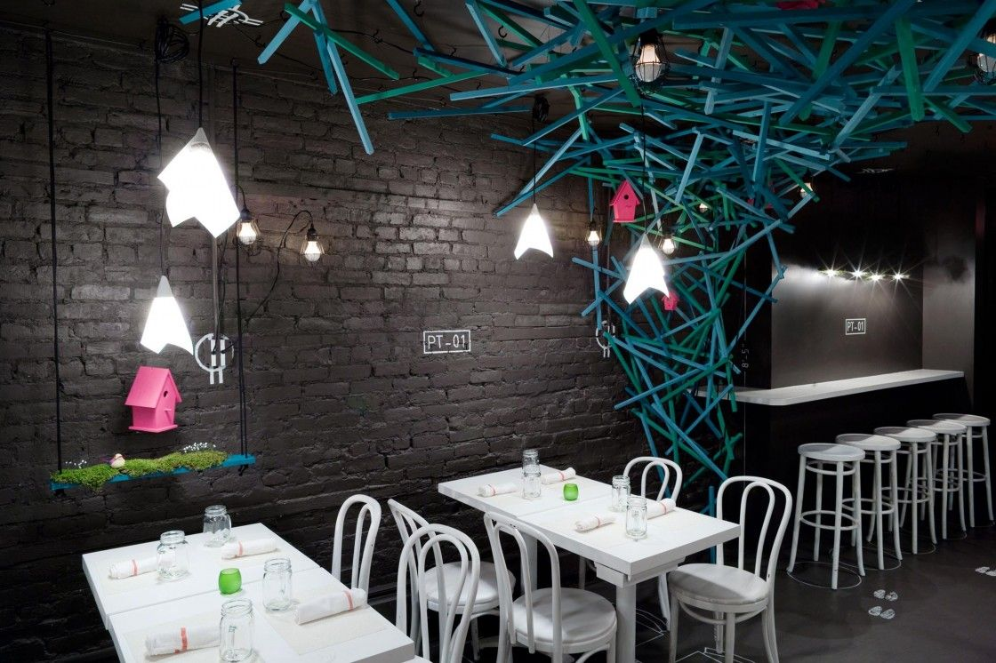Romantic Restaurant Ideas Displaying Rustic Black Brick Stone Wall