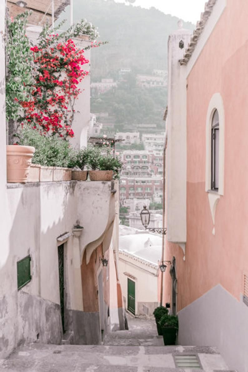 Italy Prints // Wall Art // Positano // Wall Art Prints // Travel Prints // Photography Prints // Italy Door // Bedroom Wall Art // Europe