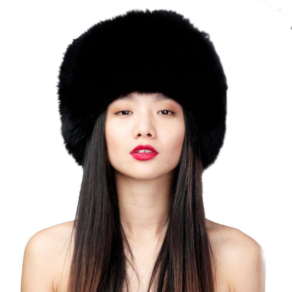 Ursfur womenus fox fur siberian mongolian ushanka trapper hats