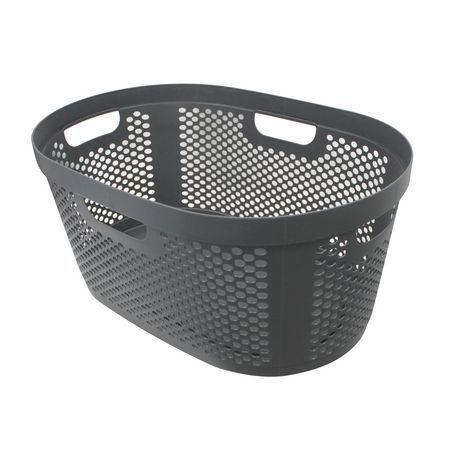 Modern Homes 40l Laundry Basket Grey Grey Laundry Basket