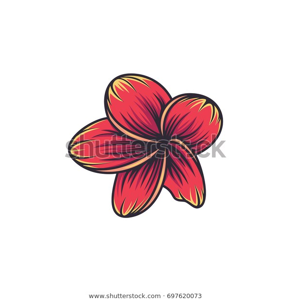 Plumeria Flowers Symbol Sign Vector Illustration Stock Vector Royalty Free 697620073 Abstract Art Beautiful Beauty Blossom Brand Business Company Co