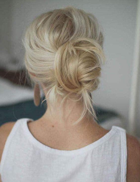 Coiffure 15 beaux chignons trouvés sur Pinterest