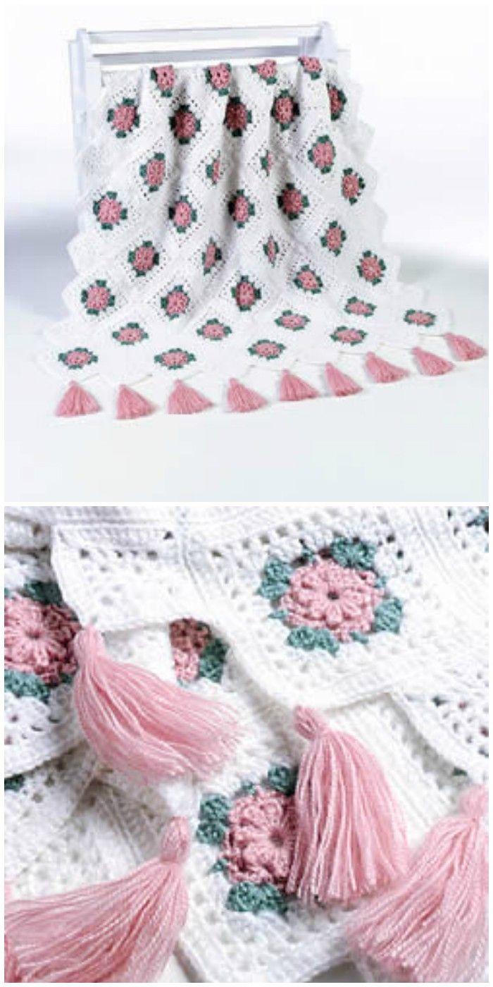 Free Crochet Blanket Patterns – Free Patterns   Manta, Tejido gancho ...