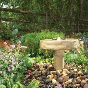 How To Build A Garden Fountain Modeled After An Old Millstone This Little Is The Perfect Size For Patio Or Small Backyard