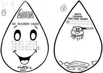 Dia Da Agua Complete A Frase Atividades Para Educação Infantil