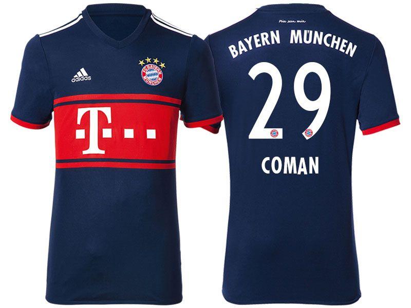 low priced c8925 56a93 Bayern Munich #29 Kingsley Coman 17-18 Road Short Shirt ...