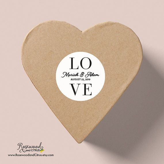 Stylish modern love wedding stickers printed in black ink on white matte paper sticker by rosewood