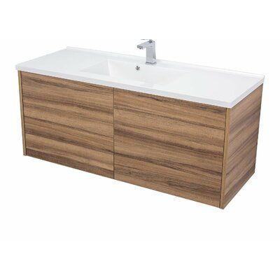 Orren Ellis Mcpeak 48 Wall Mounted Single Bathroom Vanity Set