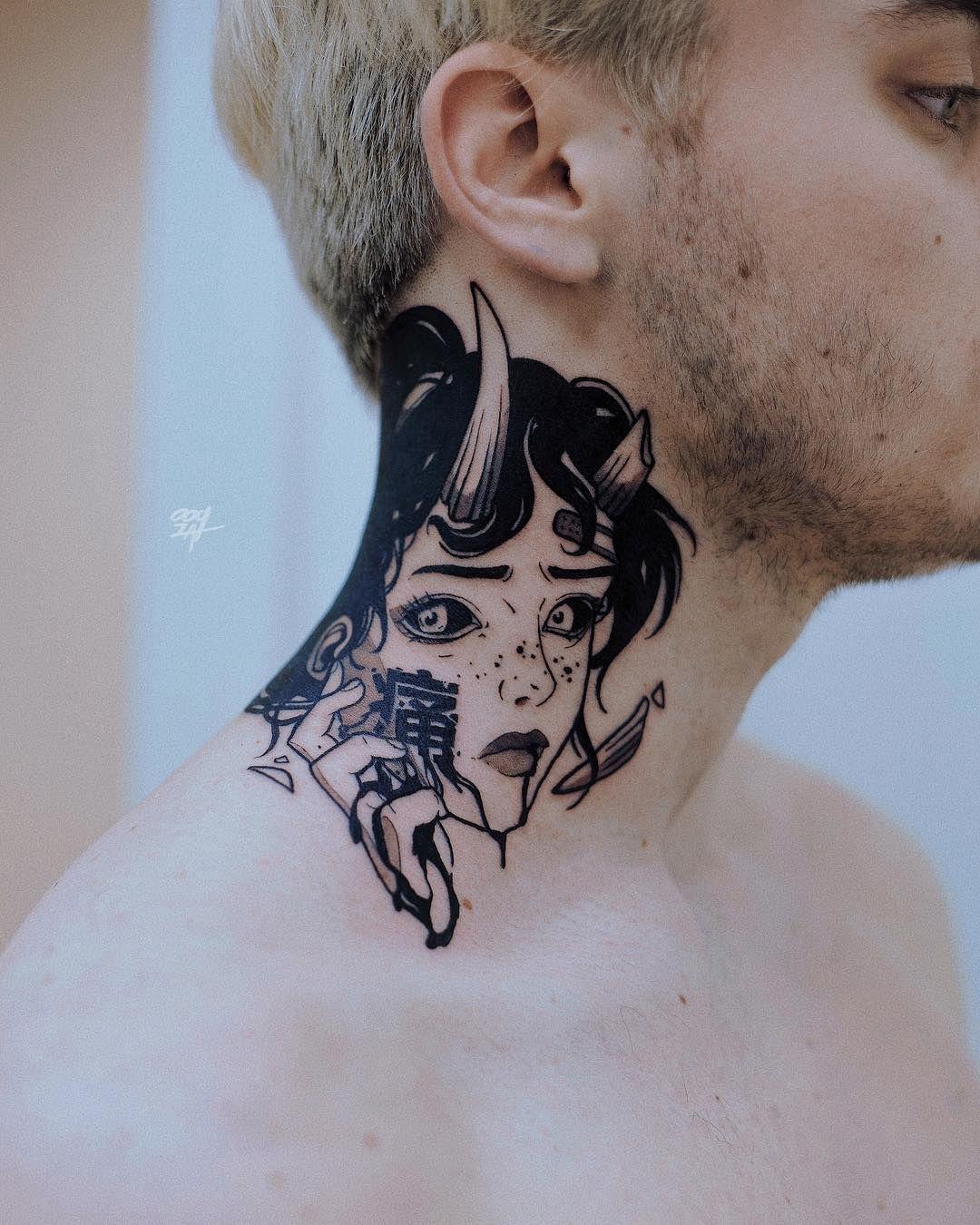 """Photo of ✚ OOQZA TATTOO ARTIST ✚ on Instagram: """"#ooqza #tattoomoscow #japaneseart #mangatattoo #manga #onlythedarkest #darkartists #wheretheytatt #equilaterra #blacktattooart…"""""""