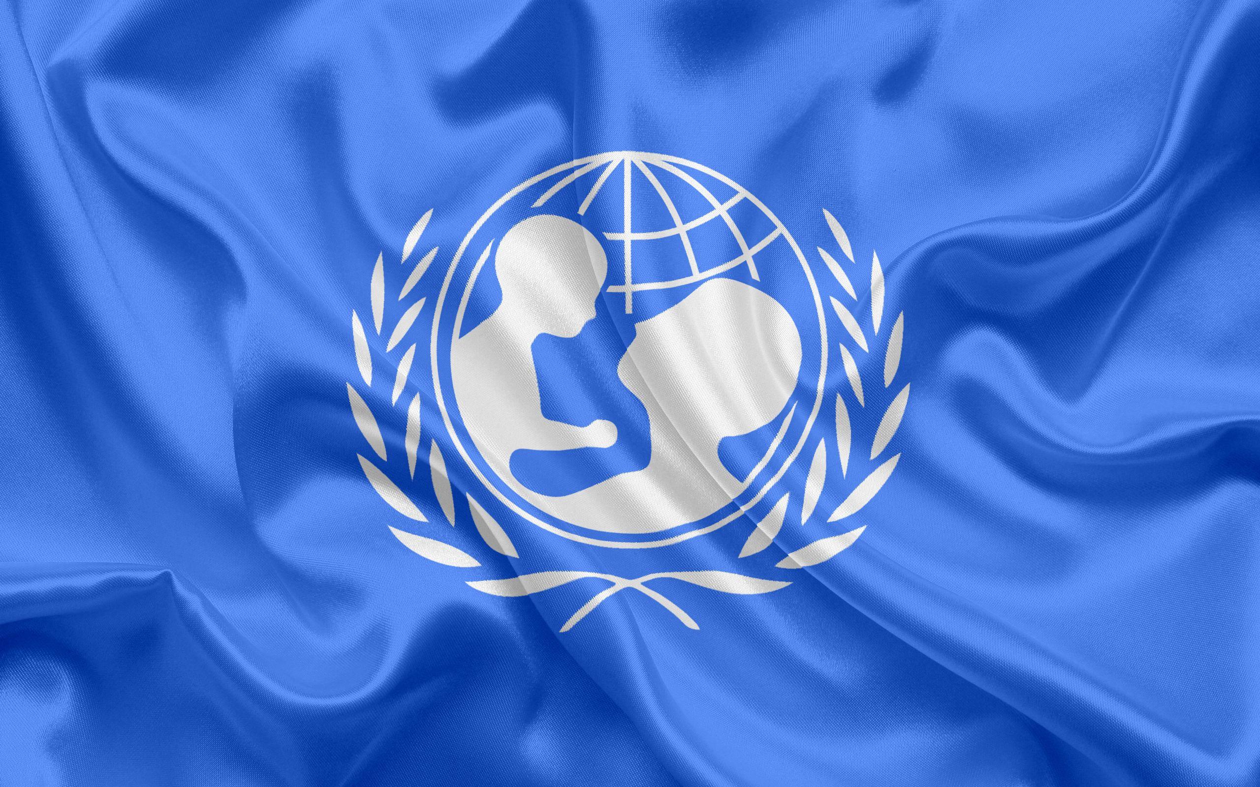 La Bandera De La Unicef El Simbolo El Logotipo De Unicef De Seda Azul De La Bandera Internacional De Las Naciones Banderas Bandera Banderas Internacionales