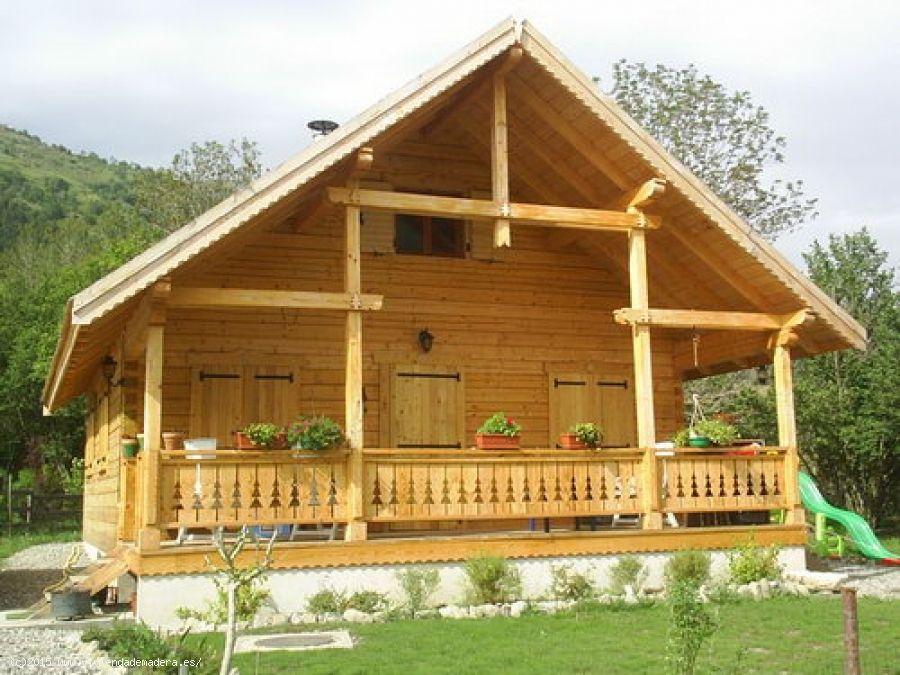 Viviendas de madera casas de madera casa en oferta ref for Casas de madera ofertas