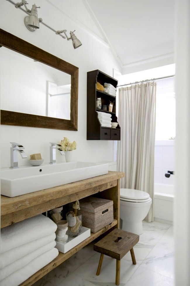 A Country Home Revisited Lark Linen Custom Bathroom Vanity Modern Country Bathrooms Luxury Bathroom Master Baths