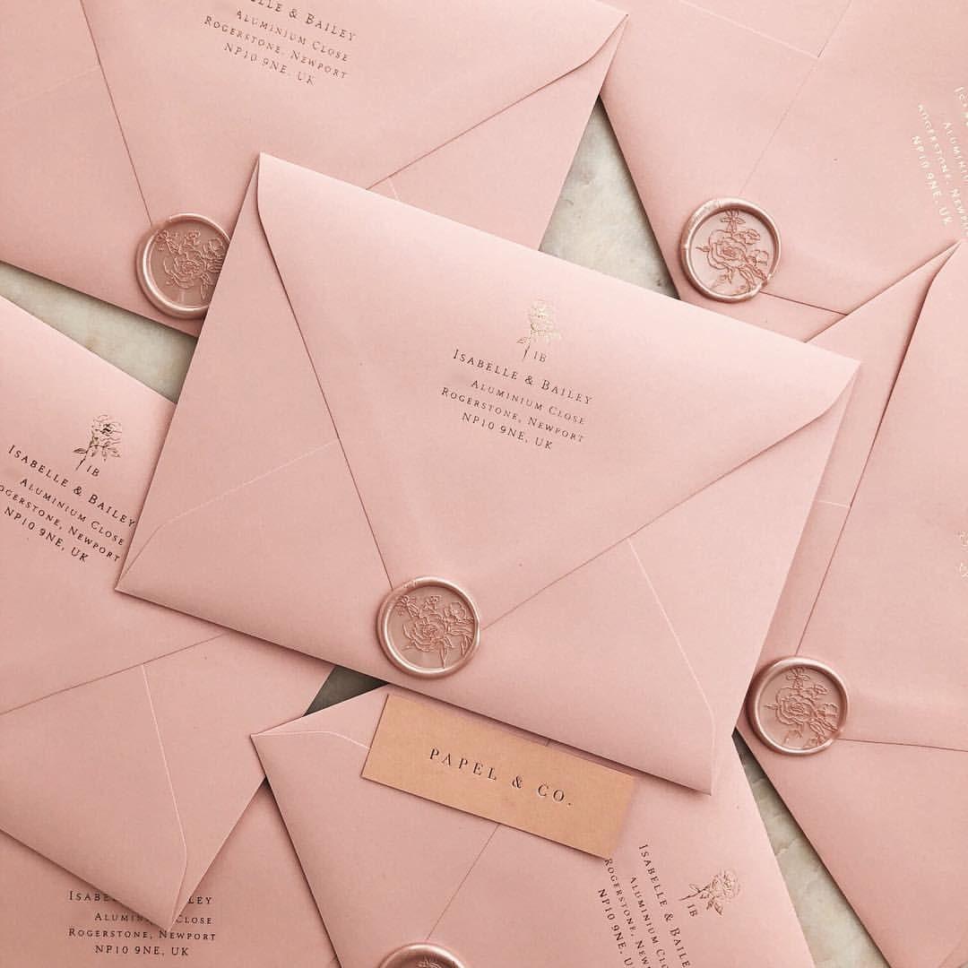 Romantic And Modern Wedding Invitations Pink On Pink Wedding Weddinginvitation Pink Wedding Invitations Modern Wedding Invitations Beach Wedding Invitations