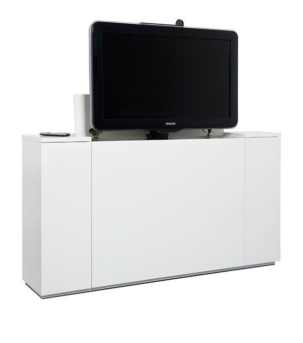 Tv Beugel Voor In Kast.Onze Nieuwe Tv Kast Met Ingebouwde Tv Lift 12 Tv Kast Kast Bed