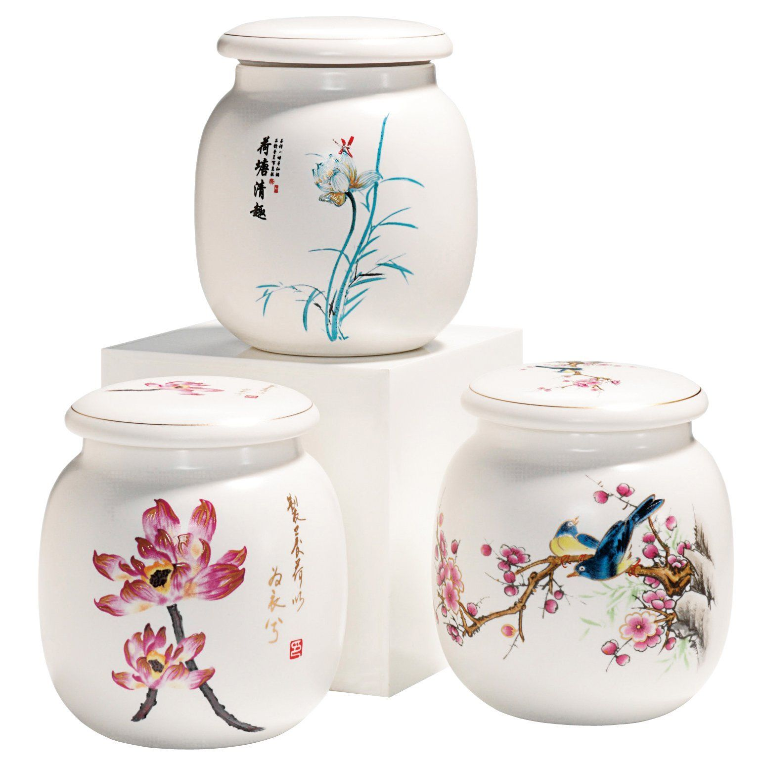 Delightful Painted Ceramic Storage Containers For Loose Tea