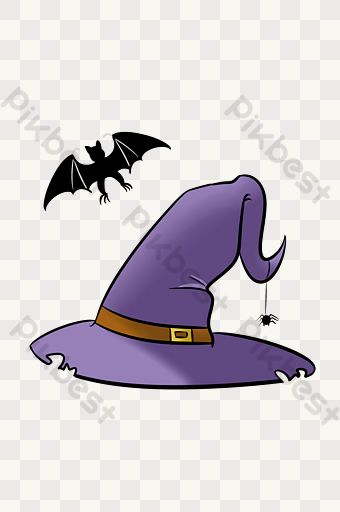 Halloween Purple Witch Hat Illustration Png Images Psd Free Download Pikbest Halloween Party Poster Witch Hat Halloween Witch Decorations