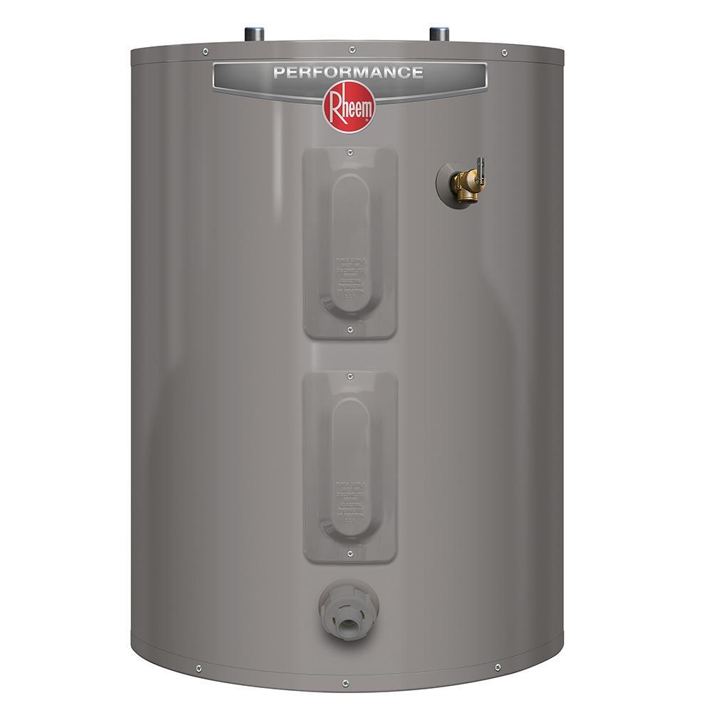 Rheem Performance 30 Gal Short 6 Year 3800 3800 Watt Elements Electric Tank Water Heater Xe30s06st38u1 Water Heater Installation Lake House Bathroom Rigid Foam Insulation