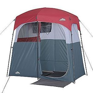 Portable Double Shower Changing Room Tent Camping Hiking Outdoor