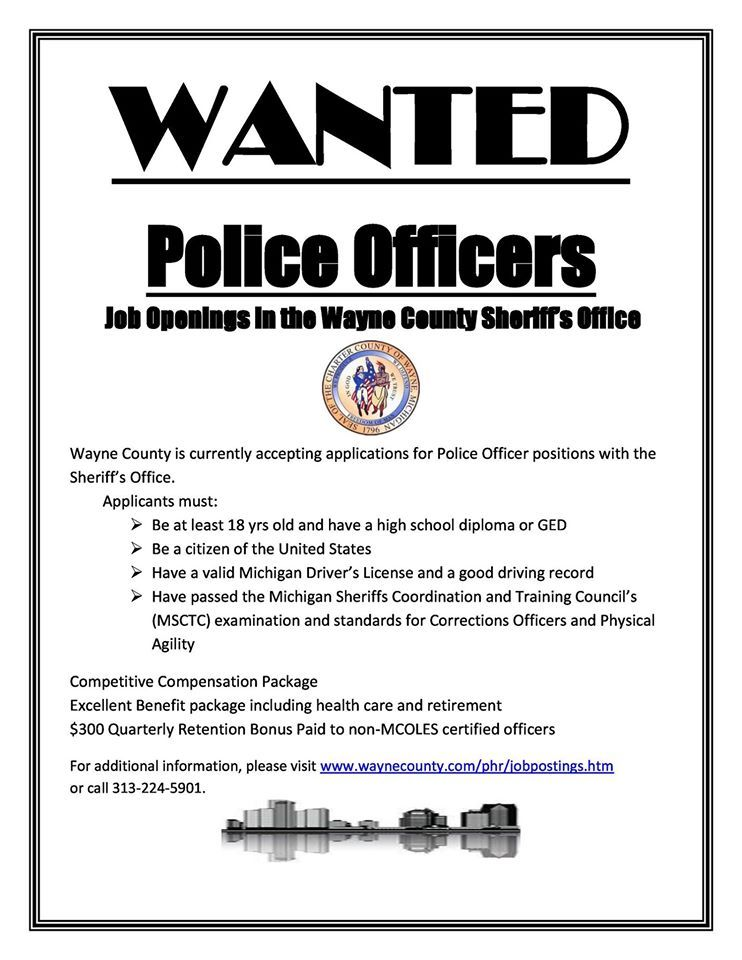 Wayne County Sheriffs Office Looking To Hire Police Officers