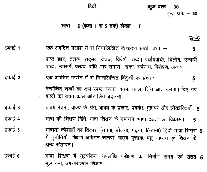 Sanskrit Of The Vedas Vs Modern Sanskrit: UPTET 2014 Syllabus UPTET Paper 1