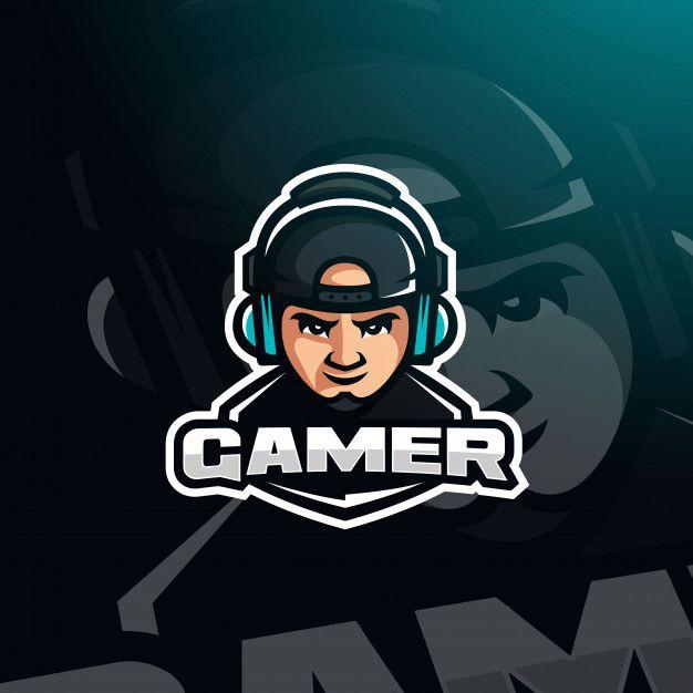 Gamer Youtuber Avatar De Jogo Com Fones De Ouvido Para O Logotipo Esport Esport Logo Gamer Logo Logo Design Art