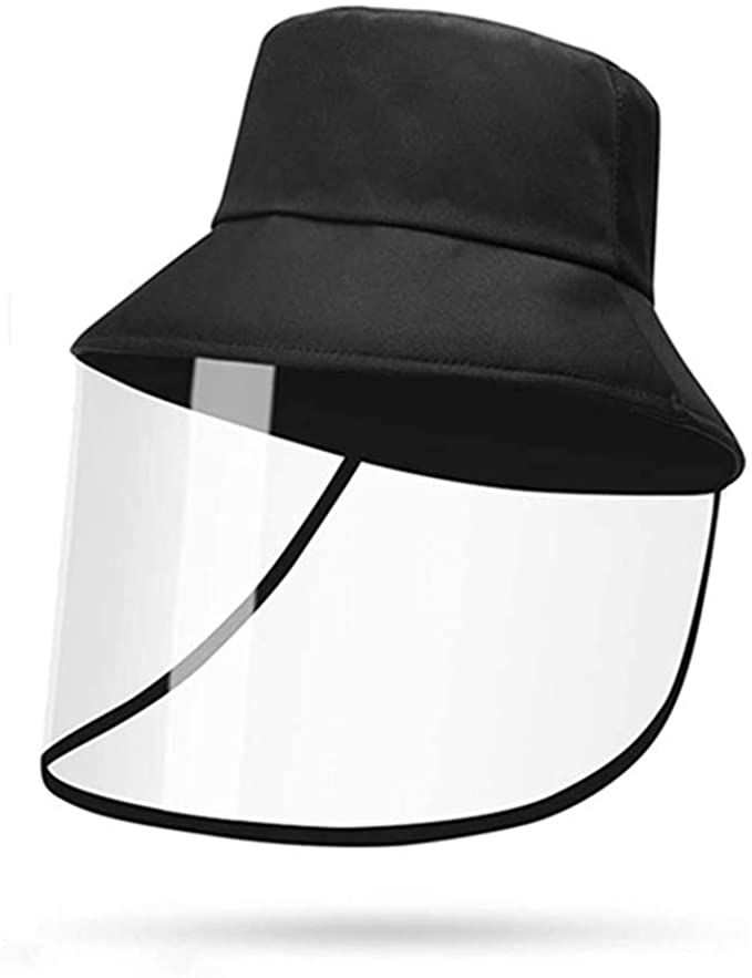 Amazon Com Elewelt Face Shield Hat Safety Face Shield Full Face Protective Cap Cover Dustproof Cover Outdoor Fisherman Hat Adjustab Hats Sun Cap Hats For Men