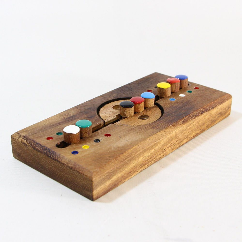 Details About Wooden Brain Teaser Puzzles Crazy Box Mango