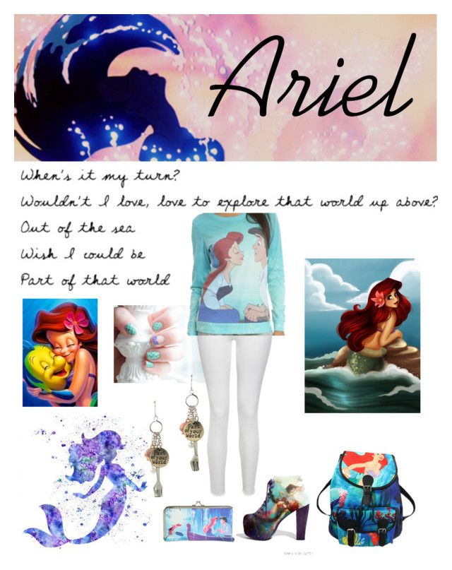 """""""Little mermaid!"""" by kittykaitxo ❤ liked on Polyvore featuring Paige Denim and Disney"""