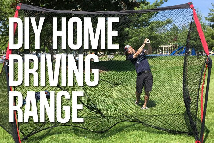 How to Build Your Own Home Driving Range | Golf chipping ...