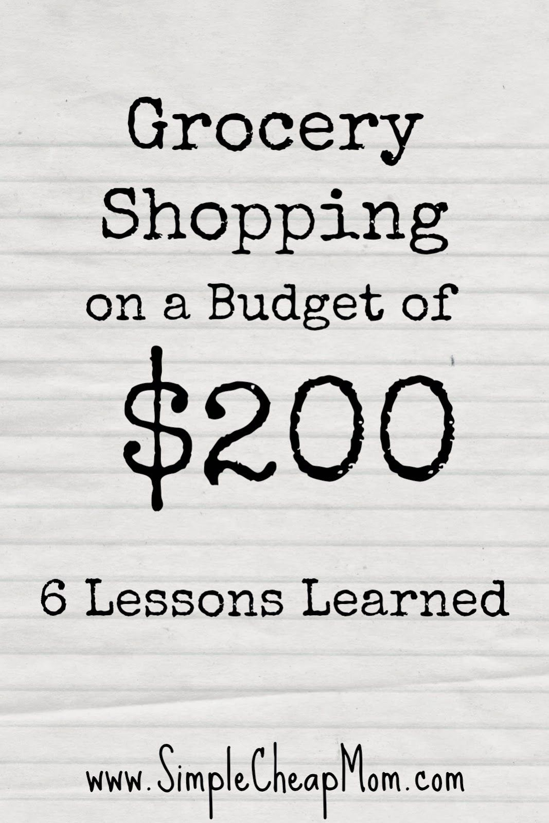 Grocery Shopping On A Budget Of 200 6 Lessons Learned