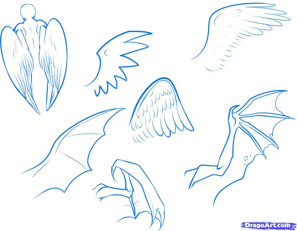 How To Draw Anime Wings, Draw An Anime Angel, Step By Step, Anime