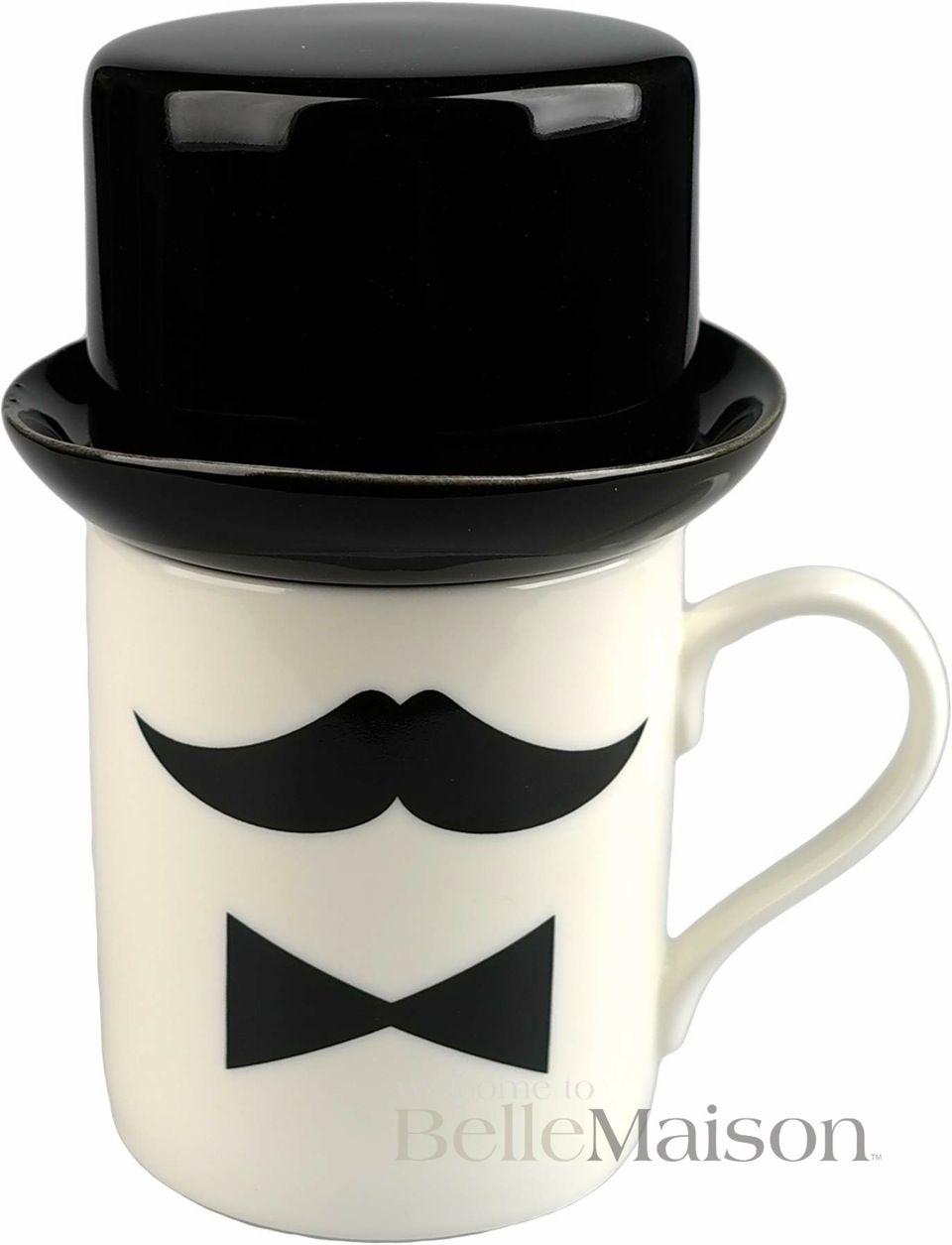 Kubek Moustache 1 Bellemaison Pl Glassware Tableware Mugs