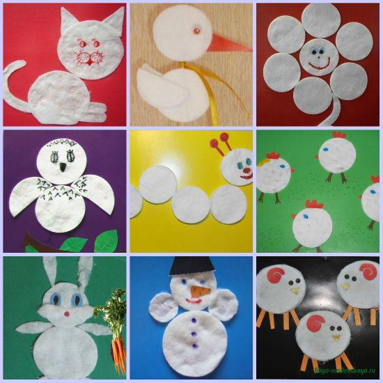 Поделки из ватных дисков на новый год своими