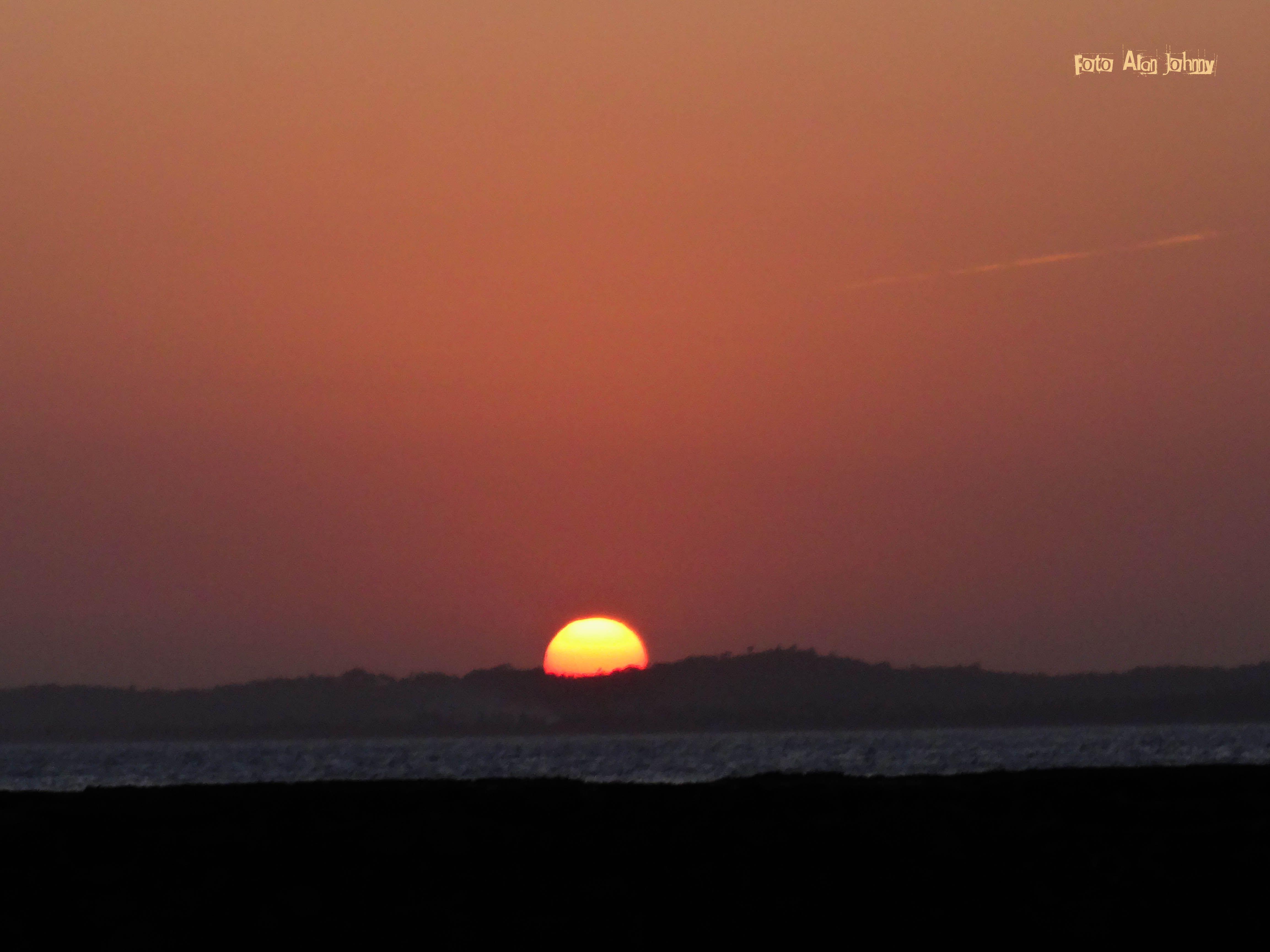O pôr do sol