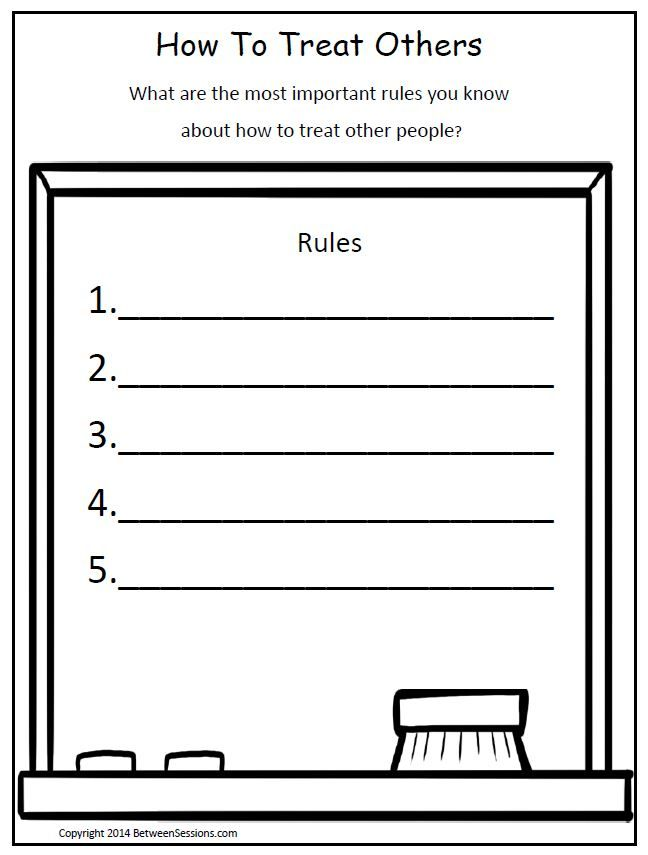 This worksheet can be used to help children learn important rules – Happiness Worksheets