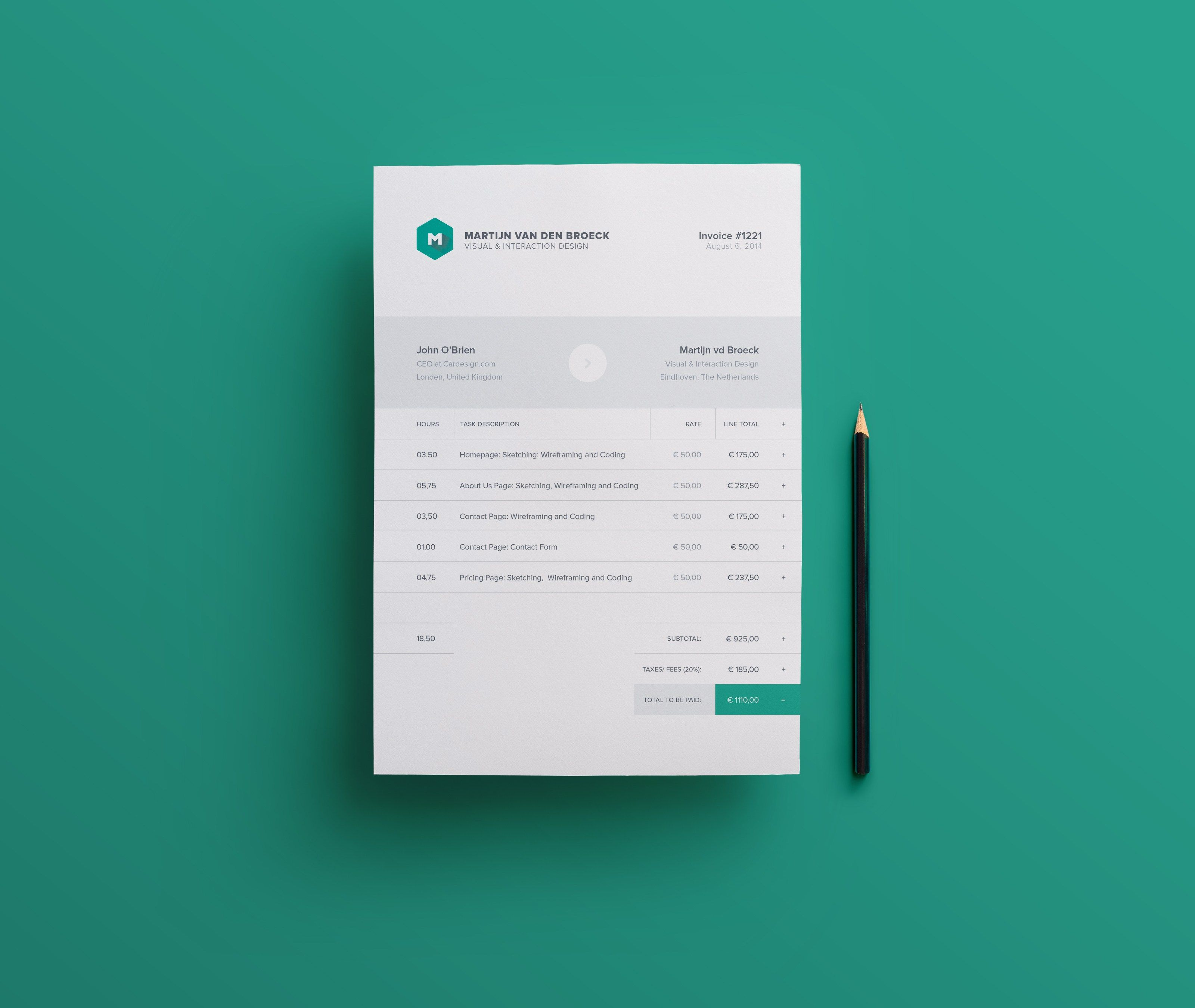 Free Freelance Invoice Template Indd  Idml  Print Templates