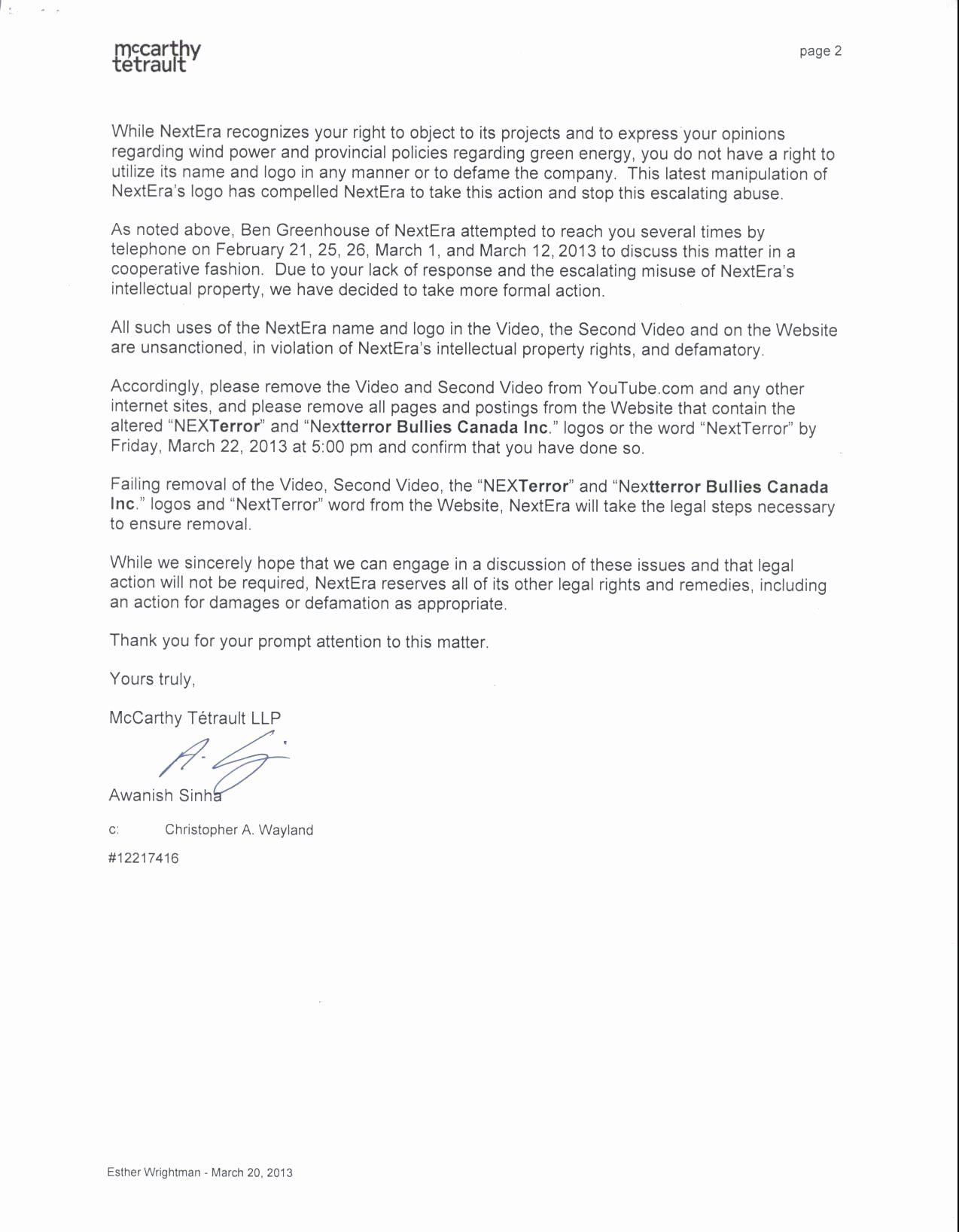 Sample Cease And Desist Letter To Former Employee Beautiful Cease And Desist Letter Template Intellectua Letter Template Lettering Scholarship Thank You Letter