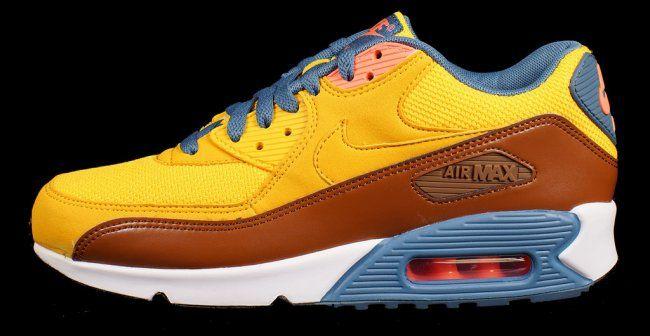 separation shoes ccbc0 fbe85 Nike Air Max 90 Essential - University Gold   Cognac - Air 23 - Air Jordan  Release Dates, Foamposite, Air Max, and More