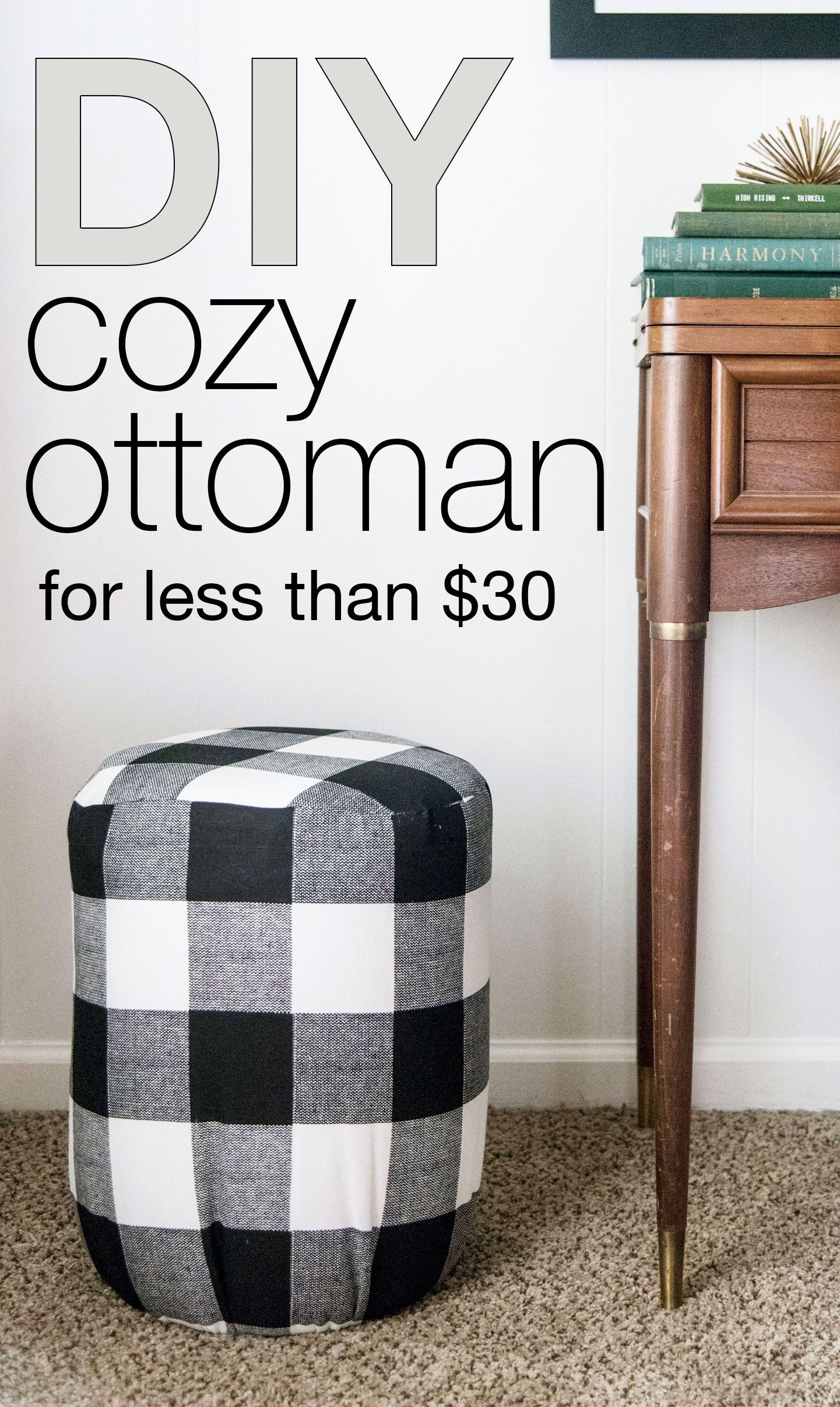 Surprising Easy Ottoman Diy For Less Than 30 The Creative Lifestyle Bralicious Painted Fabric Chair Ideas Braliciousco