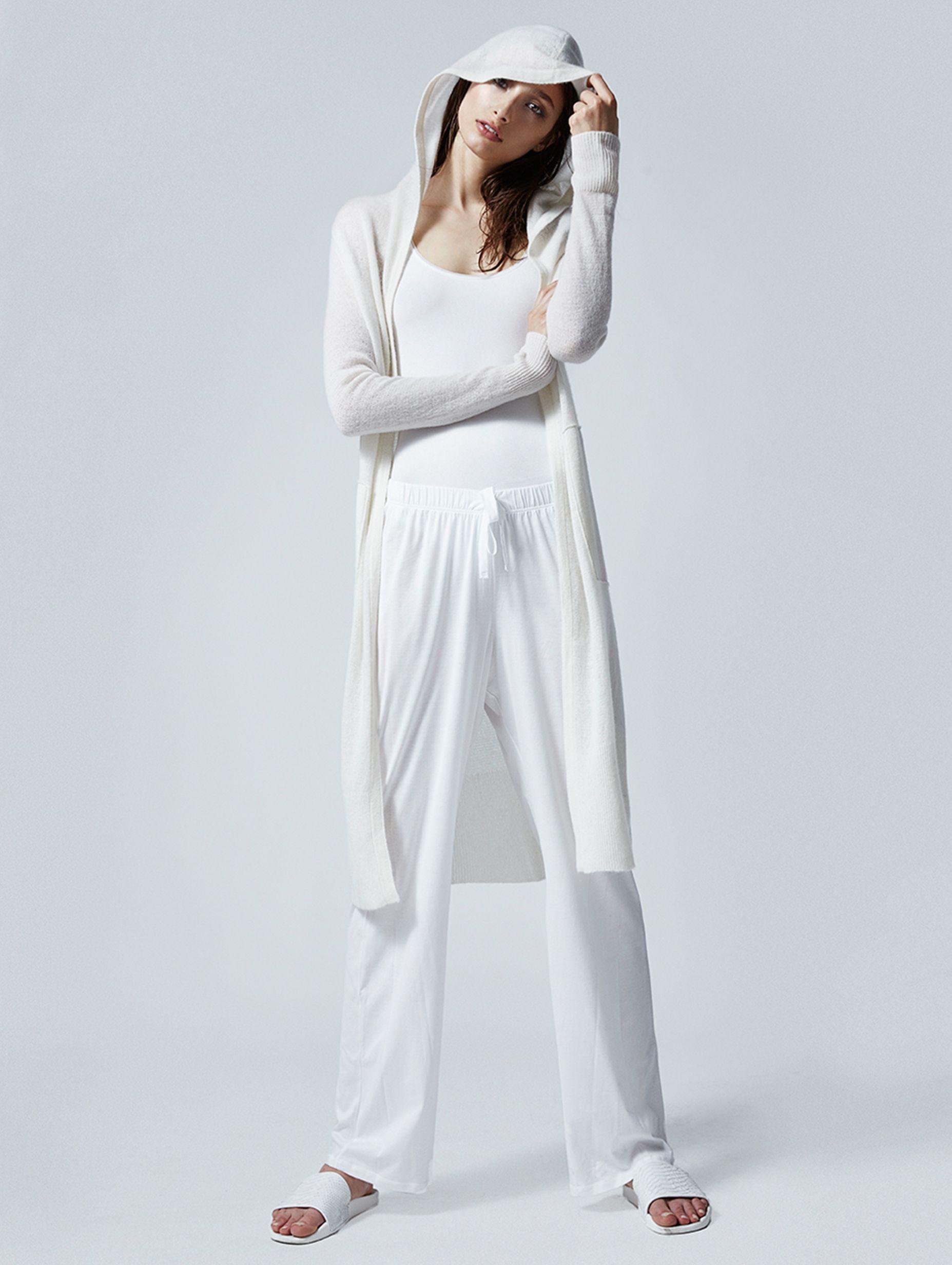Alexandra Agoston for White   Warren    Long Hooded Cardigan ...