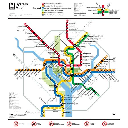 Dc Metro Map 2020 Washington DC Metro System Map Poster in 2020 | Washington metro