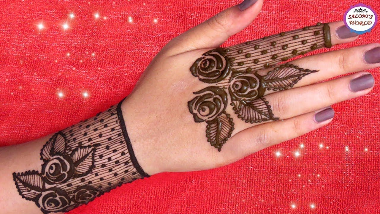 how to apply mehndi designs for hands